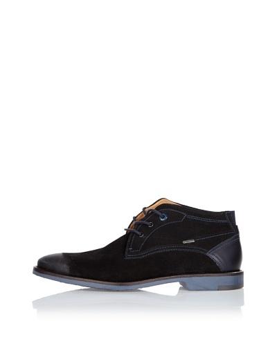 Fretz Men Zapatos Lee Negro / Azul