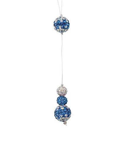 Frou Frou Bijoux Collar Cavo Plata de Ley Swarovski Azul