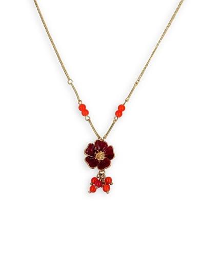 Frou Frou Bijoux Collar Flore Rojo / Granate