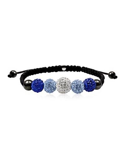 Frou Frou Bijoux Pulsera Swarovski Negro / Azul / Transparente