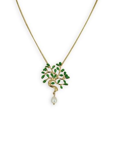 Frou Frou Bijoux Collar Arbre Verde / Blanco