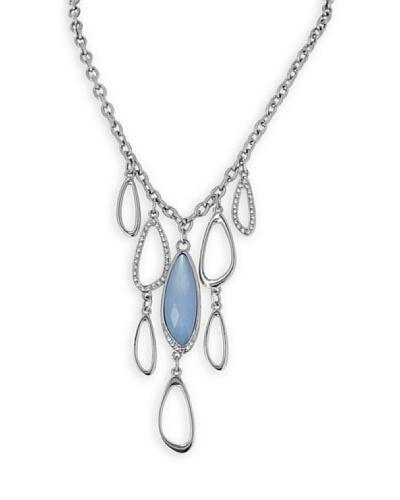 Frou Frou Bijoux Collar Design Swarovski Azul / Transparente