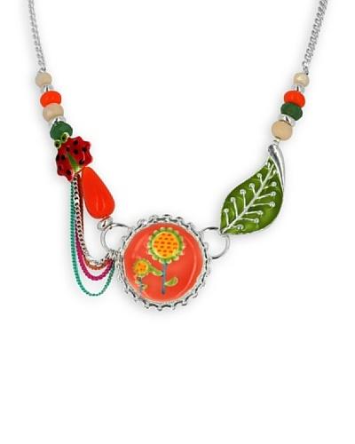 Frou Frou Bijoux Collar Alice Plata de Ley / Naranja / Verde