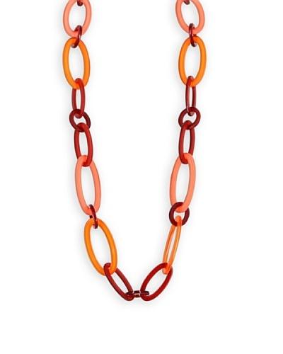 Frou Frou Bijoux Collar Ovales 70'S Rojo / Naranja