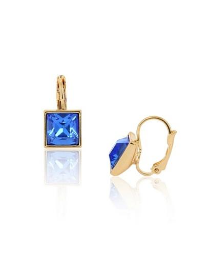 Frou Frou Bijoux Pendientes Little Square Svarowski Azul