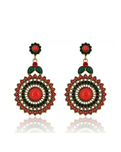 Frou Frou Bijoux Pendientes Liza Rojo / Verde
