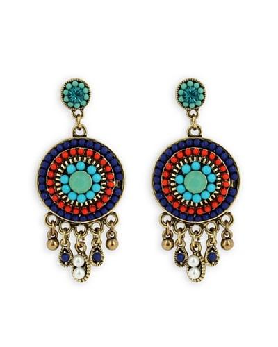 Frou Frou Bijoux Pendientes Exotic Azul / Rojo