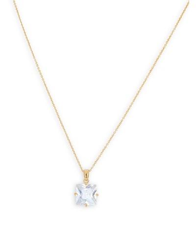 FrouFrou Bijoux Cadena Con Colgante Solitaire Cubique Oro