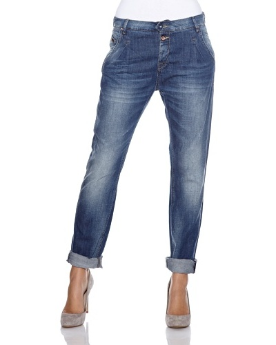 Fuga Jeans Pedra Slouch Fit Azul Denim