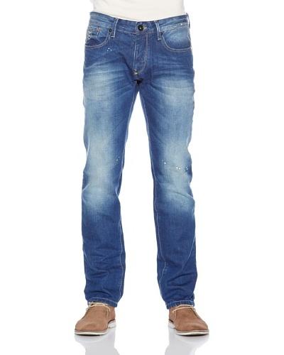 Fuga Pantalón Uni Straight Azul Medio
