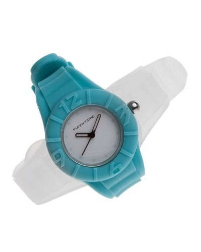 Funny Time Reloj Con Correas Intercambiables Turquesa / Transparente