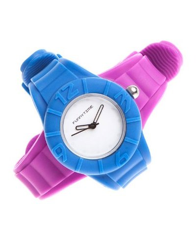 Funny Time Reloj Con Correas Intercambiables Morado / Azul
