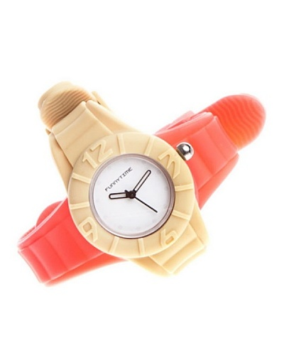 Funny Time Reloj Con Correas Intercambiables Rosa / Caqui