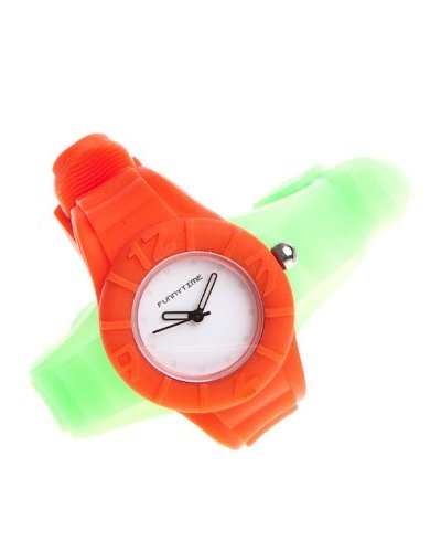 Funny Time Reloj Con Correas Intercambiables Rojo / Verde