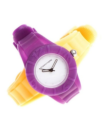 Funny Time Reloj Con Correas Intercambiables Violeta / Naranja