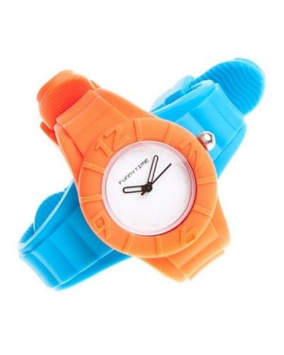 Funny Time Reloj Con Correas Intercambiables Azul / Naranja