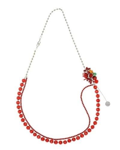 Furla Collar Charms Cassia Rojo
