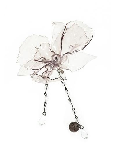 Furla Broche Orquídea Transparente