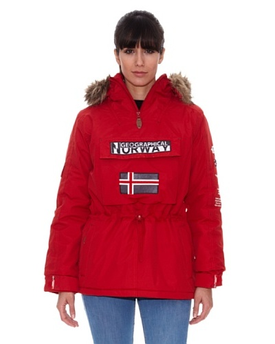 Geographical Norway Parka Building Rojo