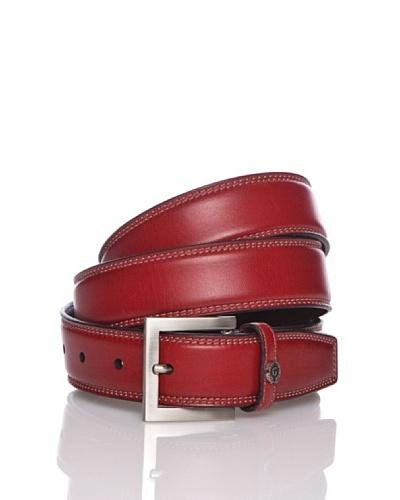 George's Cinturón Chapa Rojo / Plata