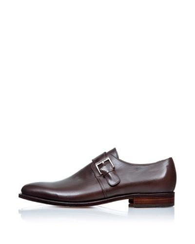 George's Zapatos Hebilla Liso Chocolate
