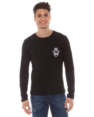 Gianfranco Ferré Camiseta Manga Larga Logo Negro