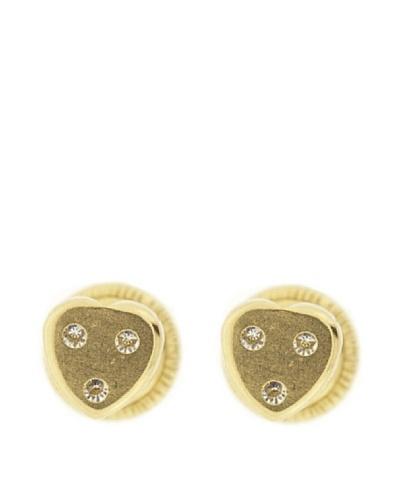 Gold & Diamond Pendientes Corazon Circonitas