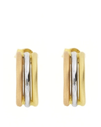 Gold & Diamond Pendientes Aro Tricolor