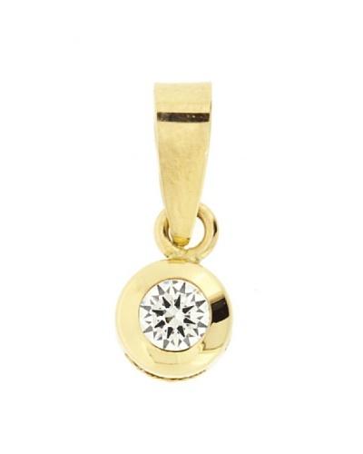 Gold & Diamond Colgante Chatón 5 mm Circonita