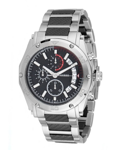 Guess Reloj W22519G1 Plata / Negro