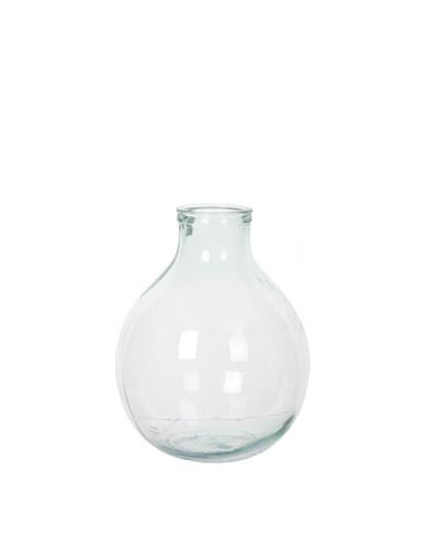HAANS Lifestyle Florero Redondo de vidrio 100% reciclado