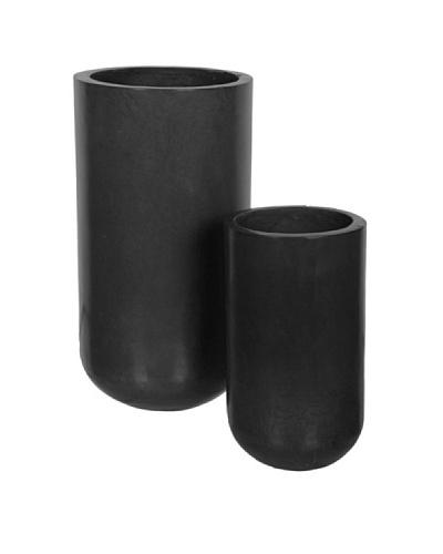 HAANS Lifestyle Set de 2 Vasijas Negro