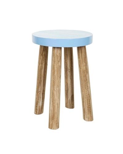 HAANS Lifestyle Taburete/Mesa Suar Redonda de madera  Azul