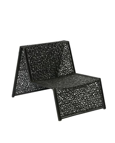 HAANS Lifestyle Funn Lounge Sillón de fibra de acero lavado loco tejer Negro