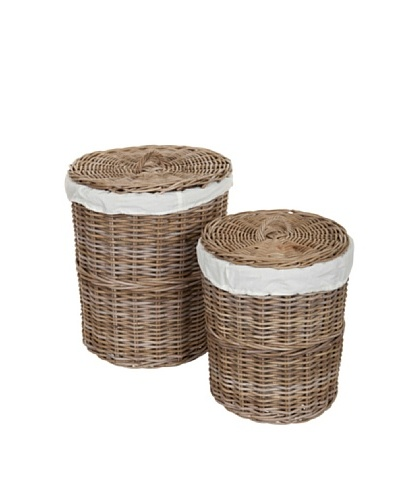 HAANS Lifestyle Kobo Set de 2 cestas Blanco