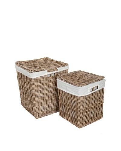 HAANS Lifestyle Kobo Set de 2 cestas Gris