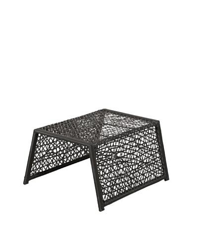 HAANS Lifestyle Funn Lounge Reposapiés weaving  lavado Negro