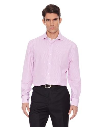 Hackett Camisa Rayas Rosa / Blanco