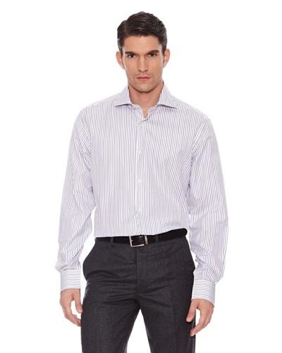 Hackett Camisa Rayas Marrón / Negro / Azul