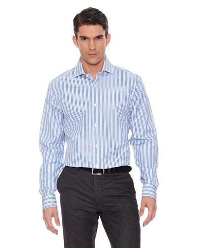 Hackett Camisa Rayas Celeste