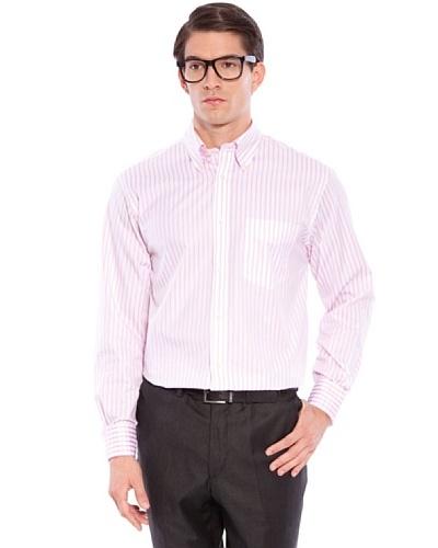 Hackett Camisa Rayas Rosa / Blanco 40