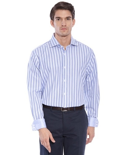 Hackett Camisa Rayas Azul / Blanco 43