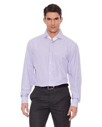 Hackett Camisa Rayas Morado / Blanco