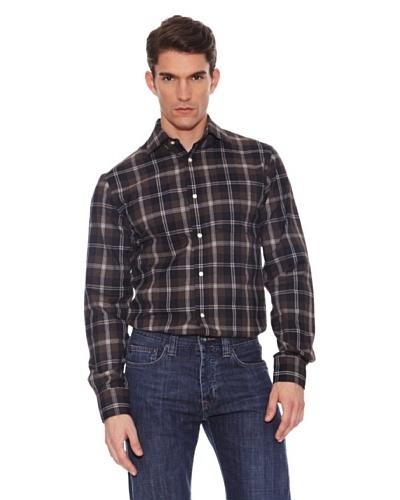 Hackett Camisa Cuadros Marrón