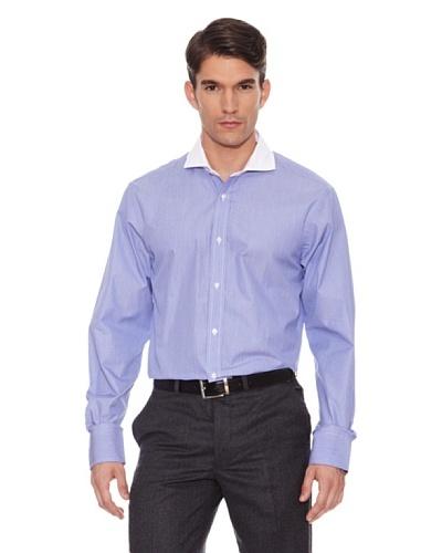 Hackett Camisa Micro-Cuadros Azul / Blanco