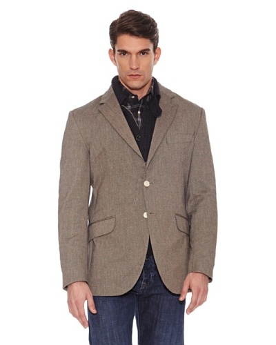 Hackett Chaqueta donegal elbow navy