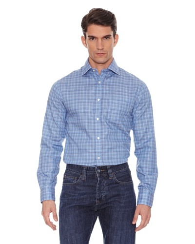 Hackett Camisa Cuadros Azul / Verde / Marrón
