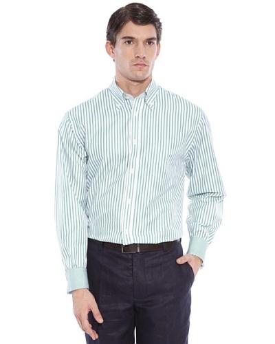 Hackett Camisa Rayas Verde / Blanco