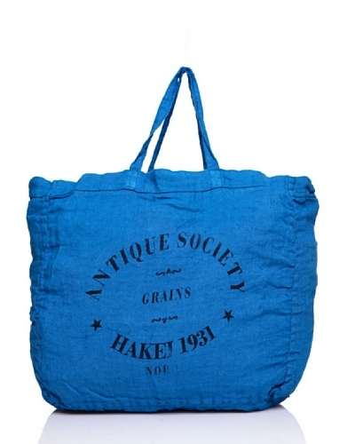 Hakei Bolso Lino Colores Lavado Antique Azul