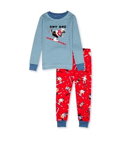 Hatley  Pijama Idalion Rojo / Azul